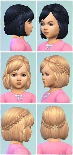 The Sims 4 Maxis Match Custom Content Sims Four, Sims 4 Mm Cc, Maxis, Toddler Hair Sims 4, The Sims 4 Bebes, Mods Sims, The Sims 4 Cabelos, Pelo Sims, The Sims4