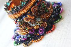 Crocus Flavus freeform crochet bracelet by irregularexpressions