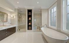 A Modern Take on Georgian Architecture Modern Georgian, Georgian Kitchen, Bathroom Spa, Neutral Bathroom, Bathroom Ideas, Bath Ideas, Bathroom Inspiration, Shower Ideas, Georgian Interiors