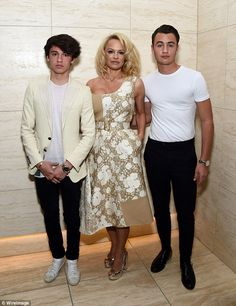 Family night! Pamela Anderson attended a screening of the short film she stars in Connected with her two sons Dylan Jagger Lee and Brandon Thomas Lee in Los Angeles on Friday