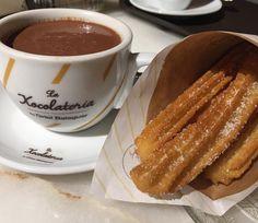 Churros con chocolate @ La Xocolateria by Oriol Balaguer Barcelona
