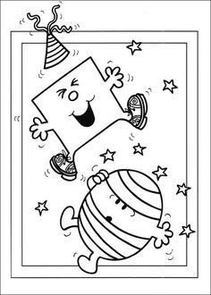 Mr. Men Tegninger til Farvelægning. Printbare Farvelægning for børn. Tegninger til udskriv og farve nº 14