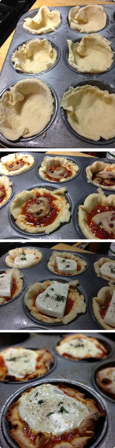 Pizza Cupcakes, Tasty, Yummy Food, Cooking Recipes, Healthy Recipes, Greek Recipes, Food Art, Brunch, Food And Drink