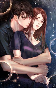 Push: the whisper of the mirror-romance-INSIDE Korea JoongAng Daily - - Couple Anime Manga, Romantic Anime Couples, Romantic Manga, Anime Couples Drawings, Anime Couples Manga, Love Cartoon Couple, Cute Couple Art, Anime Love Couple, Anime Fantasy