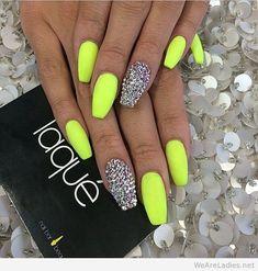 Coffin shaped nail art design