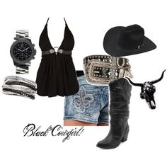 black cowgirl, created by cowgirl-44 on Polyvore