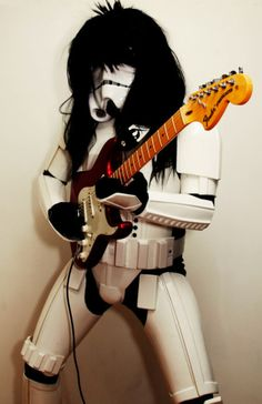 What's the problem with rocker Stormtroopers?  They can't hit any notes!