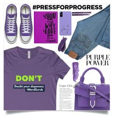 """International Women's Day: Purple Power (15)"" by samra-bv ❤ liked on Polyvore featuring Levi's, Versus, NYX, Balmain and By Terry"