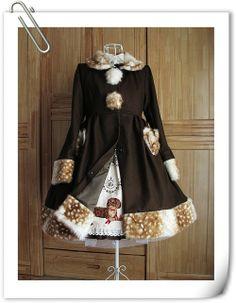 thinklolita:  Princutess ~Fur fawn coat 2014~For more lolita...