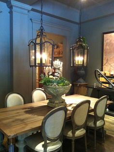 Restoration Hardware dining room