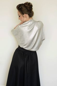 A personal favorite from my Etsy shop https://www.etsy.com/il-en/listing/232681475/silver-shrug-evening-shawls-and-wraps
