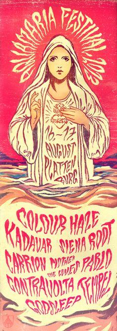 AQUAMARIA FESTIVAL 2013 - Colour Haze, Kadavar, Siena Root, Carrion Mother, She Loves Pablo, Contravolta, Tempel, Godsleep (August 16-17.2013 at Plattenburg, DE)