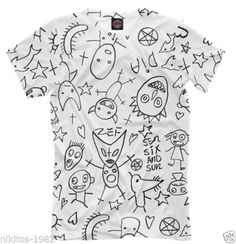 T-shirt-Die-Antwoord-ninja-yo-landi-DJ-Hi-Tek-Rat-freak-cartoon-25-Full-print-PB