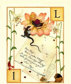 L...Letter...Lizard...Lilly...Lion...Lie..  by Lauren Mills Elfabet