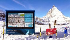 Sports enthusiasts of Valais ski resort will be informed of the dangers of avalanche or temperatures with large screens installed on the slo...