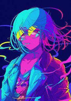 Draw Anime Japanese Illustrator BerryVerrine Dazzles With Awesome Retrowave Kawaii Art – grape Japan Cyberpunk Kunst, Cyberpunk Anime, Art Anime Fille, Anime Art Girl, Anime Girls, Cartoon Kunst, Cartoon Art, Art And Illustration, Manga Illustrations