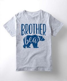 This Athletic Heather 'Brother Bear' Crewneck Tee - Boys is perfect! #zulilyfinds