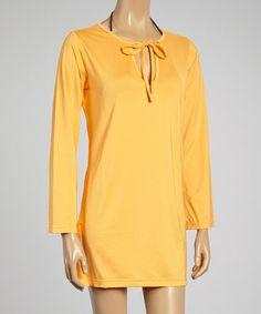 Look what I found on #zulily! Tangerine SolTek Tunic Cover Up #zulilyfinds