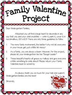 Valentine's Day Family Heart Project ***FREEBIE*** --- Feb