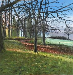 Somerset Walk, Autumn by Richard Leslie Lewis - Win vouchers worth from Winsor & Newton in our Calendar Challenge - February 2020 Beach Scenes, Somerset, Impressionist, Competition, February, Palette, Challenges, Autumn
