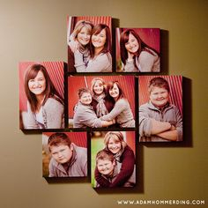 Adam Hommerding Photography creates fun, unique, and personality filled photos for Minnesota high school seniors and families. The studio is located in Monticello, MN but photographs happy faces all across the midwest. Picture Frame Decor, Collage Picture Frames, Photo Wall Collage, Picture Ideas, Photo Ideas, Canvas Display, Canvas Collage, Canvas Frame, Canvas Art