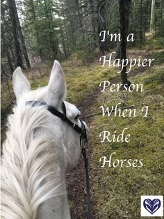 I'm a Happier Person when I Ride Horses #Quotes