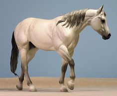 Sarah Rose/Rose Studios Lonestar stock horse resin haired and painted by Carol Williams  www.riorondo.com www.rosehorse.com
