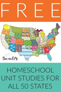 Have a blast studying U. Geography with these free unit studies for all 50 states. Includes extensive book list, famous people and landmarks, state history, field trip ideas, arts and crafts and regional recipes! Perfect for homeschool students grades Us Geography, Geography Activities, Geography Lessons, Geography Worksheets, Dinosaur Activities, Math Worksheets, Kindergarten, States And Capitals, Thing 1