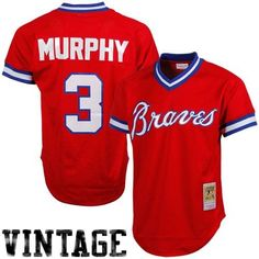 Dale Murphy Atlanta Braves 1980 #3 Mitchell & Ness Authentic Cooperstown Collection Mesh Batting Practice Jersey - Red
