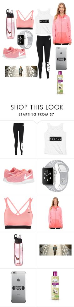 """""""Nike and workout"""" by miaaking-1 ❤ liked on Polyvore featuring NIKE, New Balance and St. Ives"""