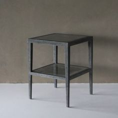 HOLD MEDIUM side table grey stone and caviar stingray.  #Cravt #DKhome #Craftsmanship #Living #Tables #Stingray #Stone #Furniture #Luxuryfurniture