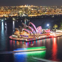 Light Show At Sydney Opera House. Photography by Lauren Bath Harbor Bridge, Sydney Harbour Bridge, National Geographic Travel, Destinations, House Photography, Big Photo, Like Instagram, Instagram Travel, Festival Lights