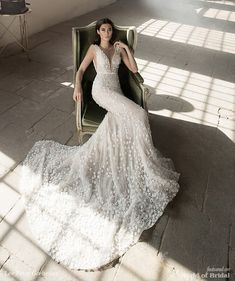 Lee Petra Grebenau 2018 mermaid wedding gown