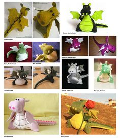 Make your own cute dragon!  Yoki the Dragon will be 10 inch tall when he is created. Isnt he cute with his fat little belly :)  This sewing pattern
