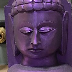 This Buddha head casting was created using our Smooth-Cast 325 filled with Ure-Fil 9 and colored using our UVO Colorants and Cast Magic. #moldmaking #casting #sculpture