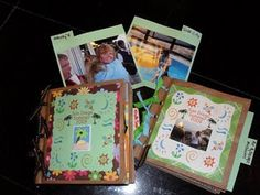 Easy scrapbook to make for paper bags.  We made these at a family reunion, and we made them at girl's camp.  Everyone, from the youngest to grandma, loved making these scrapbooks.  This gives you a step by step instruction on how to make it.