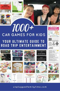 Your Ultimate Guide To Road Trip Entertainment The Best Car Games For Kids Unplugged Family Time Pin