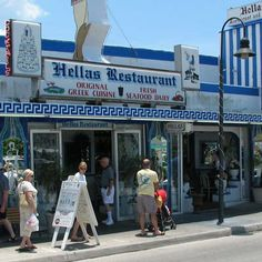 Been here a couple of times now. Hellas in Tarpon Springs, FL. The dessert cases are unbelievable! Love this little Greek community.a must visit if in the Tampa area! Florida City, Visit Florida, Florida Living, Old Florida, Tampa Florida, Florida Vacation, Florida Travel, Tampa Bay, Dunedin Florida