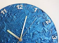 BLUE WALL CLOCK Unique Clock modern wall clock, blue office decor, blue clock