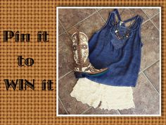Win our Blue Dip Dye Cut Out Top by repining our pin and following us on Pinterest!! Winner will be announced Friday 6/26.