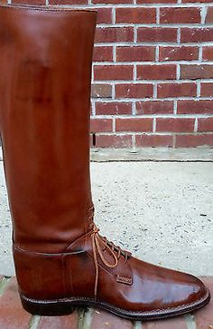 John-Lobb-Bespoke-Field-Boot-Navvy-Cut-Style-Boots-Vintage-1965-size-12-D-US
