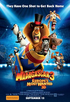 Madagascar 3 Europe's Most Wanted