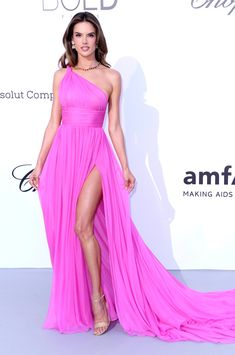 Alessandra Ambrosio in Tommy Hilfiger attends the amfAR Gala during the 71st Annual Cannes Film Festival. #bestdressed
