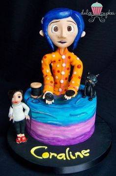 Coraline Film, Coraline Jones, Cupcakes, Gift Cake, Fancy Cakes, Sweet Cakes, Snack, Let Them Eat Cake, Baby Shower Cakes