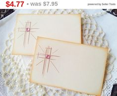 SALE Shining Cross Place Cards Food Buffet Label by LazyDayCottage
