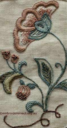 Wonderful Ribbon Embroidery Flowers by Hand Ideas. Enchanting Ribbon Embroidery Flowers by Hand Ideas. Bordado Jacobean, Crewel Embroidery Kits, Embroidery Shop, Embroidery Needles, Silk Ribbon Embroidery, Hand Embroidery Patterns, Cross Stitch Embroidery, Embroidery Supplies, Embroidery Books
