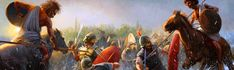 Radu Oltean. Numidians at the Battle of Lake Trasimene, June 22, 217 BC Carthage, June 22, North Africa, Warfare, Old World, Medieval, Battle, Old Things, Painting