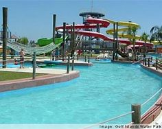 Featuring miles of Soak'N Fun including a wavepool, lazy river, water slides, kiddie area. Free parking, private. cabanas, live concerts, dive-in movies, teen parties and more. Group reservations one week in advance.  Address: I-10 at Exit 49 North to Landon Road , Gulfport, MS 39503   Phone: 228-328-1266