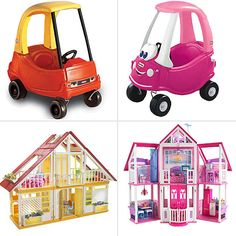 Classic Toys Available in Pink Versions -- Because girls only play with pink toys. Ugh.