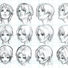 Marvelous Learn To Draw Manga Ideas. Exquisite Learn To Draw Manga Ideas. Anatomy Drawing, Manga Drawing, Figure Drawing, Anime Hair Drawing, Drawing Heads, Drawing Poses, Drawing Tips, Art Reference Poses, Drawing Reference